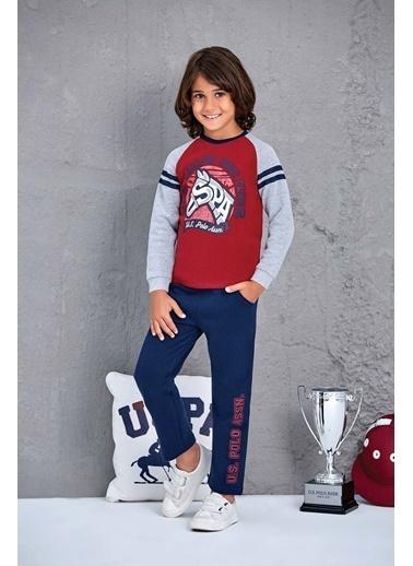 U.S. Polo Assn. Us Polo Assn Lisanslı Erkek Çocuk 2'Li Takım Gri Bordo
